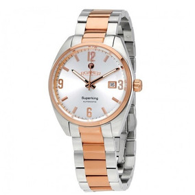 3fd6ca67c5d Relógio Suíço Roamer Superking Automático Prata rosé Ouro. R  3.999