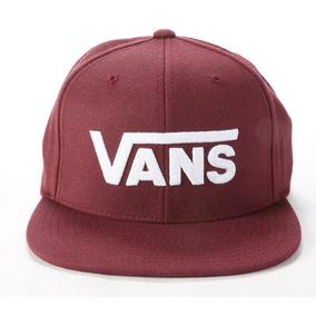 Gorra Vans Drop V 2-b Vino Con Blanco Plana Cab Look Trendy 5839c1446a3
