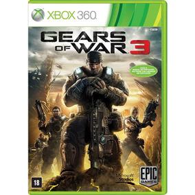 Jogo Gears Of War 3 Xbox 360 Original Midia Fisica Seminovo