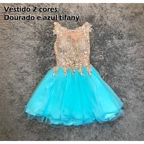 Vestido curto azul tiffany mercado livre