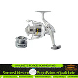 Molinete Pesca New Force 1000 Fd 6 Rolamentos Carretel Extra