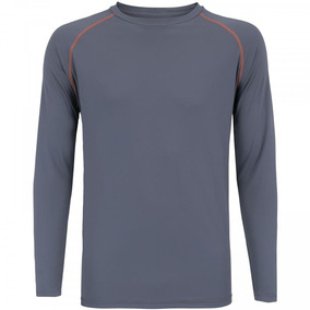Camiseta Manga Longa Proteção Solar Oxer Custom - Cinza Esc 487297f66ba