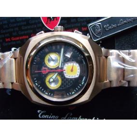 Reloj Tonino Lamborghini Crono Y Chapa De Oro Rosado H