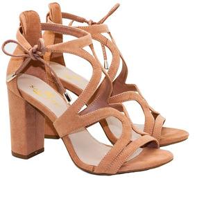dc667801a Sandalia Tanara Feminino - Sapatos Nude no Mercado Livre Brasil