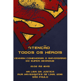 Convite De Aniversario Infantil Do Super Man Convites De