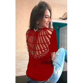 ab118b0ac Vk Moda Feminina Plus Size Tamanho M - Blusas para Feminino no ...