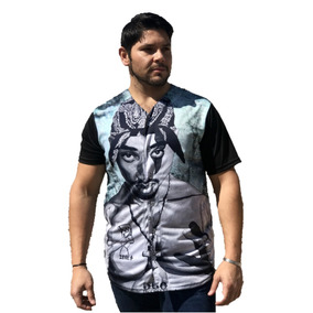 Camisa Tipo Casaca Manga Corta Sublimada Tupac Urbana Baseba