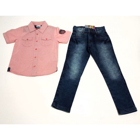 Conjunto Camisa Manga Curta Trick Nick Com Calça Jeans adb700341f8e0