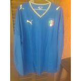 Camisa Italia Puma Euro 2008 Austria Suica Mangas Longas 82207bc346d9e