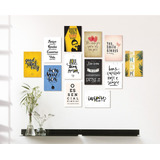 Placas Decorativas Mdf Frases Motivacionais Kit 6 Placas