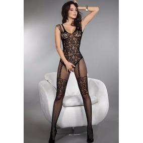 Lingerie Sexy Sensual Erótica Arrastão Estilo Meia De Corpo