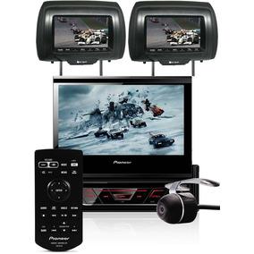 Dvd Retrátil Pioneer 1 Din Tela 7 + 2 Encostos + Câmera Re