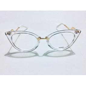 Óculos De Grau Fendi Transparente Armacoes - Óculos no Mercado Livre ... cebaf0d584