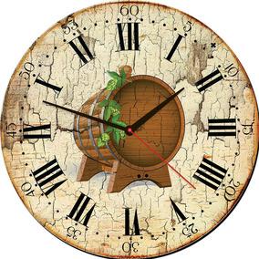 09ee0b2bdbb Relogio Parede Rustico - Relógios De Parede no Mercado Livre Brasil