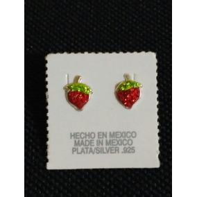Arete De Plata .925 (fresas)