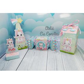 Kit Festa Infantil Unicornio Baby - 125 Itens