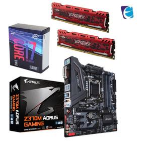 Kit 8ª Core I7 8700k Ga Aorus Z370m Gam Ram 2x 8gb Bls I