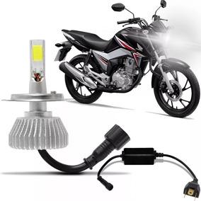 Lampada Super Led 6000k Farol Moto Honda Cg Fan E Titan 160