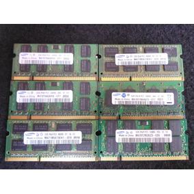 Lote Memorias Ram Samsung Notebook 8500s 6400s 5300s