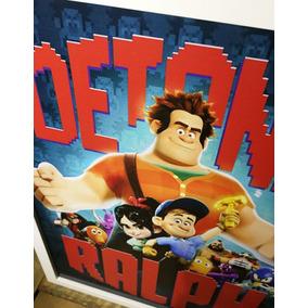 Poster Detona Ralph Disney Quadro Decorativo Infantil