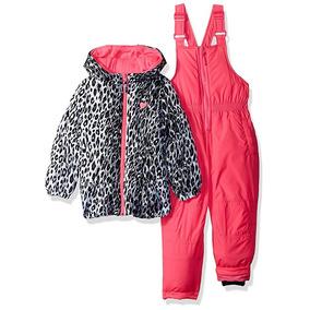 Set Chamarra Pantalon Ultra Termico Para Bebe Niña Nieve Ski