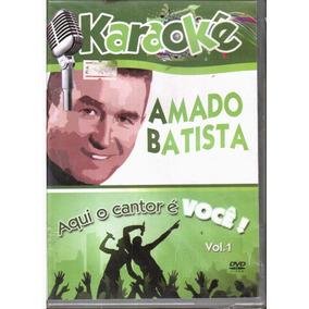 Dvd Karaoke Amado Batista - O Cantor É Você - Orig Lacrado