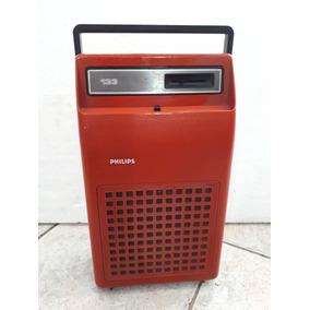 Toca Disco Portátil Vitrola Antigo Em Maleta Philips 133 Cf 65d0eb17499