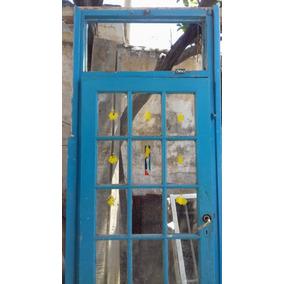 Puerta De Madera Con Ventanitas Y Ventiluz 82cm X 226cm