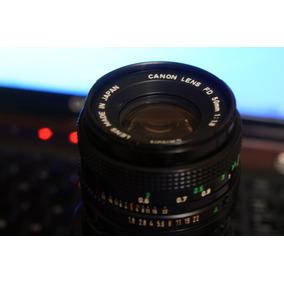 Lente Canon Fd 50mm 1:1.8 99% Nuevo