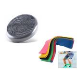 Disco Equilíbrio Pilates Yoga + Kit Mini Band Com 6 Faixas