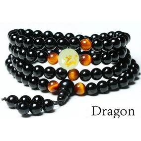 Japamala Dragão Onix Com Olho Tigre Chakra Meditação Ioga
