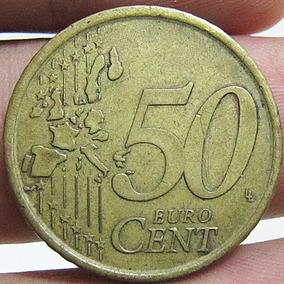 Moeda Antiga 50 Euro Cent Cervantes Espana 2001
