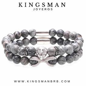 Gray Jasper Brazaletes Hombre Kingsman Moda 2019 León Gris