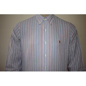 Camisa Social Masculina Polo Ralph Lauren Oxford Listrada 048e3e662c895