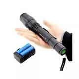 Lanterna Tática Led T6 Police 2 Bateria Recarregável Potente