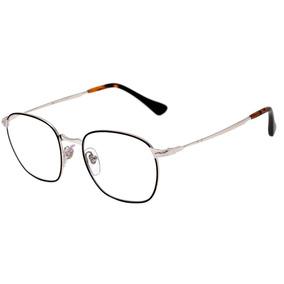 cac4ae076a721 Persol Po 2450 V - Óculos De Grau 1074 Preto E Prata Brilho