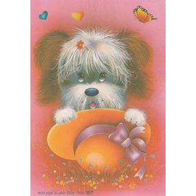 Mini Papel De Carta Antigo - Cachorro - Belas Artes - X5h