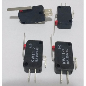 Kit 10 Chaves Micro Switch Com Haste 27 Mm (fim De Curso)