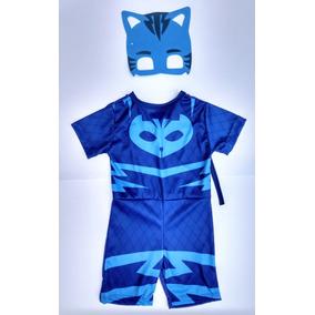 Fantasia Infantil Pj Masks Menino Gato - 2 A 8 Anos