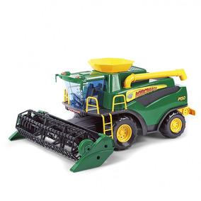Mini Colheitadeira Infantil Brinquedo Agrícola Fazenda Verde