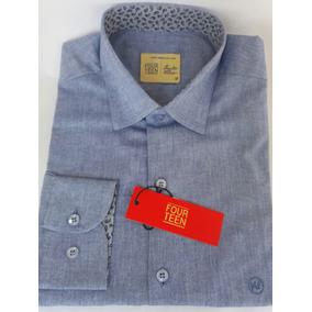 Camisa Social Fourteen 100% Algodão