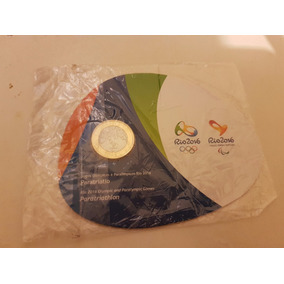 Moeda Comemorativa Olimpíadas Rio 2016 Paratriatlo + Blister