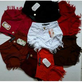 Kit 10 Shorts Jeans Feminino Hot Pant Cintura Alta 34 Ao 44
