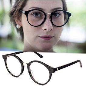 0764e46f26d39 Armação Oculos P  Grau Feminino Mf-45 Acetato Redondo Grande. R  70