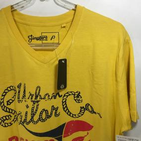 Camisa De Malha 100% Algodão Amarelo Ocre - Marca Jinglers
