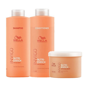 Kit Wella Invigo Nutri-enrich Shampoo+condicionador+mascara