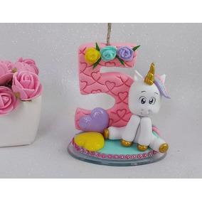 Vela Unicornio Biscuit, Festa Unicornio, 5 Anos