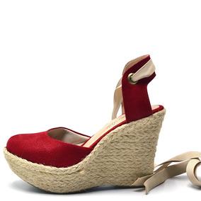 63bb5fc75 Sandalia Laço De Fita Anabela - Sapatos no Mercado Livre Brasil