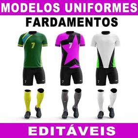358709db37 Uniformes Times Futebol 100 Modelos Sublimação Artes Moldes