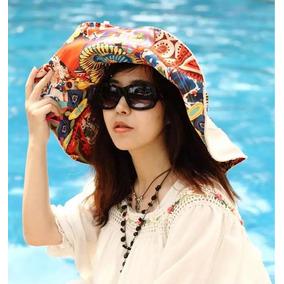 Sombrero Reversible Con Protección Solar Uv Fps50 Para Playa